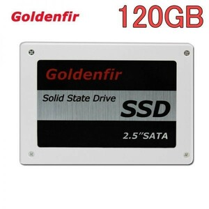 6.0Gbps SATA3 120GB SSD Goldenfir / 新品 2.5インチ 内蔵 高速 NAND TLC デスクトップPC