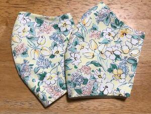 立体インナー ハンドメイド 花柄2枚セット