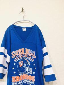 80s 80年代 88年 SUPER BOWL スーパーボウル フットボールTシャツ USA製 TRENCH ビンテージ ヴィンテージ 古着 アメフト 158番