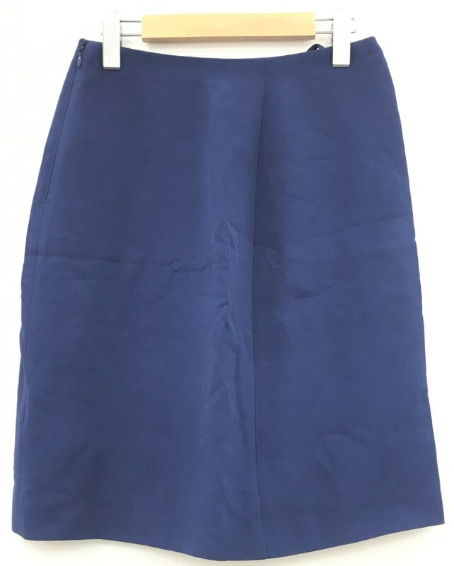 PRADA プラダ フレアスカート スーツ 臺形 サイズ40 ネイビー ブルー 紺 青 レーヨン100% オールシーズン 膝丈 服
