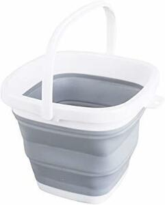グレー 3L EtetnalWings 正方形 折りたたみ バケツ 洗車 掃除 洗濯 アウトドア 園芸 釣り コンパクト 収納
