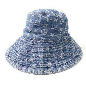 良品◇廃盤モデル♪ LOUIS VUITTON ルイヴィトン 410907 N80207 シャポー モノグラムデニム バケットハット 帽子 インディゴ フランス製 L