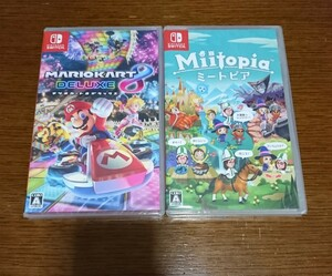 新品 Nintendo Switch マリオカート8デラックス・ミートピア 2本セット