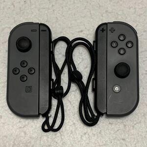 Nintendo Switch ニンテンドースイッチ Joy-Con ジョイコン グレー L R 左 右 ストラップ セット