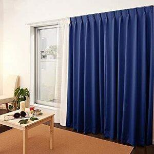 ローヤルブルー 100X178CM*2枚 NICETOWN 遮光カーテン 2枚セット UVカット断熱 防寒 省エネ 高級感のある