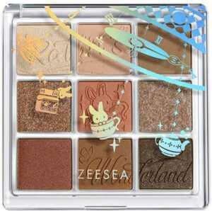 【新品】ZEESEA(ズーシー) クォーツ アイシャドウパレット9色アイシャドウ2個セットキャラメルクリアイパレット アイパレット