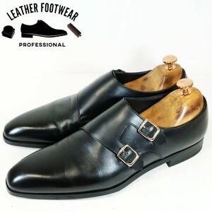 【使用僅か】REGAL リーガル サイズ:25cm ダブルモンクストラップ 17RR ブラック 黒 ビジネス シューズ 革靴 日本製