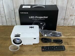 【YH-8388】中古品 動作確認済み TOPVISION T25 LEDプロジェクター 小型プロジェクター ホームプロジェクター WiFi接続可