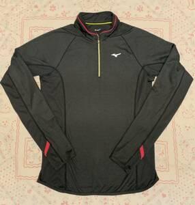ミズノ レディースハーフジップ ランニング シャツ ヨガ フィットネス トレーニングウェア スポーツウェア S トップス ブレスサーモ