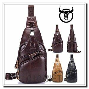 新品ボディバッグメンズレディース防水本革バッグかばん ボディバッグメンズ本革ワンショルダーバッグ斜めがけバッグバッグかばん