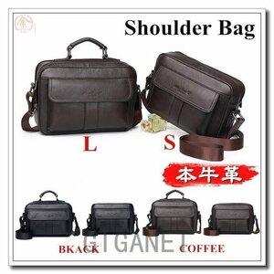 新品ショルダーバッグメンズ本革ビジネスバッグ肩掛けバッグ ショルダーバッグメンズ本革牛革斜め掛け肩掛けバッグシンプル鞄かばト