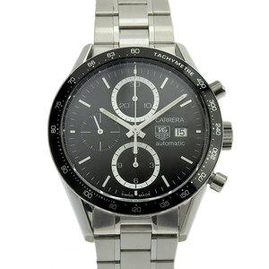タグホイヤー TAG HEUER 時計 カレラ クロノグラフ メンズ オートマ 自動巻き 腕時計 SS ブラック文字盤 CV2010-4 中古 新入荷 OW0253