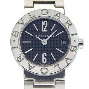 ブルガリ BVLGARI 時計 ブルガリブルガリ レディース クォーツ 腕時計 SS ブラック文字盤 BB23SS 中古 新入荷 BV0127