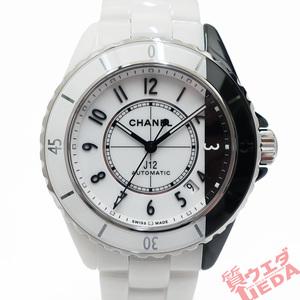 【栄】シャネル J12 パラドックス 38mm H6515 ホワイト ブラック オートマティック セラミック メンズ 自動巻き 腕時計 男