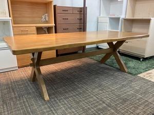 karimoku RUSTIC 6人掛け ダイニングテーブル シート付 幅2100 カリモク ルスティック 焼印 木製 大型 テーブル 食卓
