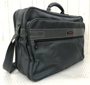 Samsonite Samsonite * кожаный комбикордный мягкий багажник * Ключевой кратким чехол сумка * цвет серый * мужской бизнес-бизнес