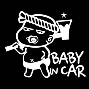 ベビーインカー チャイルドインカー カッティング ステッカー Baby in car