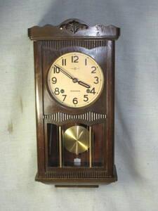 產品詳細資料,日本Yahoo代標|日本代購|日本批發-ibuy99|柱時計 6インチペイント文字盤 精工舎製 角型 古時計 完動品