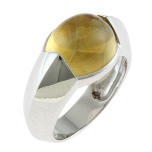 Chaumet ショーメ K18WG リング 指輪 シトリン 12.5号 18金 K18ホワイトゴールド シルバー【BJ】 中古