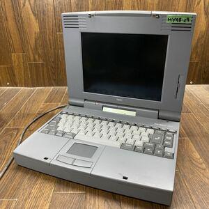 MY98-29 激安 PC98 ノートブック NEC PC-9821Na7/HC7 通電確認済み ジャンク