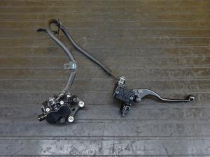 【210908】Ninja250(EX250L-004)◇ フロントブレーキセット ブレーキキャリパー ブレーキマスターシリンダー Φ14 ホース 【NINJA ニンジャ