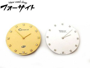 カルメンディ サーカー 文字盤 ■ 12P ダイヤ メンズ クォーツ ムーブメント 2点セット 時計 CARMEN-di SARCAR□2E 2IS