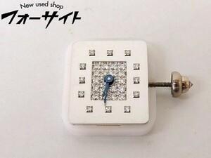 ショーメ 文字盤 ■ ダイヤ入り シルバー スクエア レディース クォーツ ムーブメント 時計 CHAUMET □2E 2IS