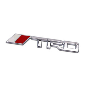 エンブレム 車 ステッカー TRD パーツ カー用品 3D アクセサリー ロゴ マーク バックドア 外装 Aタイプ 色シルバー 送料無料