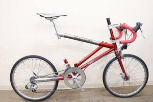 超希少!!■BIKEFRIDAY バイクフライデー AIRFRIDAY 20インチ折畳ミニベロ SHIMANO DURA-ACE 7700系 2X9S 2002年頃 美品