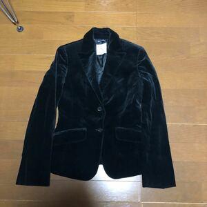 KUMIKYOKU クミキョク 組曲  テーラードジャケット ブラック ベロアジャケット レディース ヴェルヴェット 襟付き