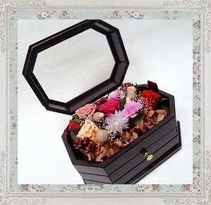 (*KGR5) breather bdo цветок / из дерева музыкальная шкатулка! Elise поэтому . бардачок роза rose украшение произведение искусства выдвижной ящик имеется elegant *
