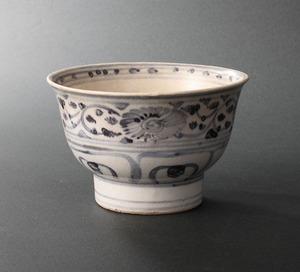 【深和】15~17世紀◆安南染付草花文茶碗