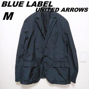ナイロンテーラードジャケット メンズM BLUE LABEL UNITED ARROWS ブルーレーベル ユナイテッドアローズ ポリエステル 黒 210830-09