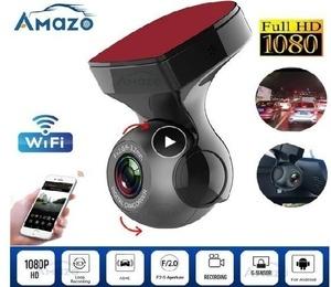 ◇限定WIFIドライブレコーダー 車載カメラ 1080P フルHD ループ録画 Gセンサー モーション検知 WDR 両面テープ ブラック