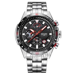 ★★メンズ高級腕時計 機械式 自動巻き 45mm 多機能 カレンダー 曜日表示 紳士ウォッチ 夜光 防水 男性 スポーツ B/S