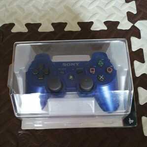 未使用 PS3 コントローラー 純正 メタリックブルー デュアルショック3 DUALSHOCK3  送料無料 SONY プレステ3
