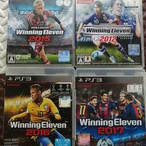 盤面綺麗 PS3 Winning Eleven 2017 2016 2015 2012 ウイニングイレブン 2017 ウイイレ 4点セット まとめ売り プレステ3 動作確認済み