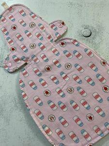 夜用ワイド◎ハンドメイド 布ナプキンホルダー 40cm◎7層 苺ミルク