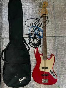 【美品】Squier by Fender スクワイア ストラトキャスター エレキギター シリアルNo.CY02045802赤系★現状品ジャンク扱い