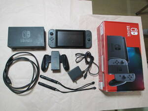 送料無料(ゆうパック) Nintendo Switch 旧型 本体 (ニンテンドースイッチ) Joy-Con(R/L) グレー 付属品あり