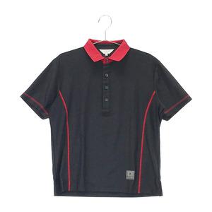 【即決】LANVIN SPORT ランバン スポール 半袖ポロシャツ ストレッチ ブラック系 38 [240001591219] ゴルフウェア メンズ
