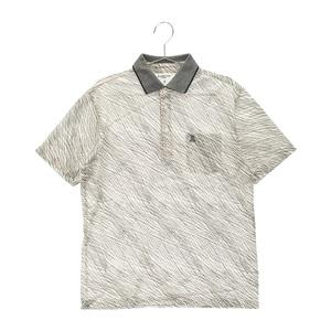 【即決】LANVIN SPORT ランバン スポール 半袖ポロシャツ 総柄 ホワイト系 40 [240001591220] ゴルフウェア メンズ