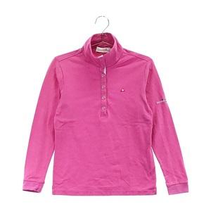【即決】LECOQ GOLF ルコックゴルフ 長袖ポロシャツ チェック ピンク系 S [240001594322] ゴルフウェア レディース