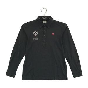 【即決】LECOQ GOLF ルコックゴルフ 長袖ポロシャツ ストライプ ブラック系 L [240001567858] ゴルフウェア メンズ