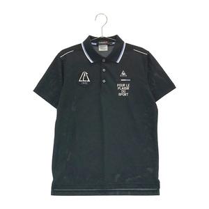 【即決】LECOQ GOLF ルコックゴルフ 半袖ポロシャツ ワッペン ブラック系 M [240001599576] ゴルフウェア メンズ