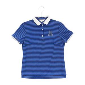 【即決】LANVIN SPORT ランバン スポール 半袖ポロシャツ ボーダー ブルー系 38 [240001604882] ゴルフウェア レディース