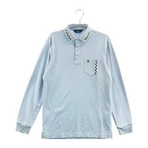 【即決】MUNSING WEAR マンシングウェア 長袖 ポロシャツ ブルー系 M [240001598587] ゴルフウェア メンズ