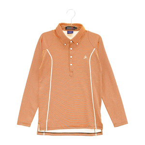 【即決】LECOQ GOLF ルコックゴルフ 長袖ポロシャツ ボーダー オレンジ系 M [240001606772] ゴルフウェア メンズ