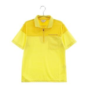 【即決】LANVIN SPORT ランバン スポール ハーフジップ半袖ポロシャツ イエロー系 38 [240001607761] ゴルフウェア メンズ
