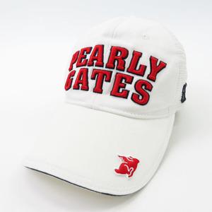 【即決】PEARLY GATES パーリーゲイツ メッシュキャップ ホワイト系 FR [240001603693] ゴルフウェア